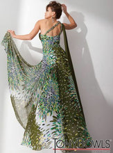 Load image into Gallery viewer, Tony Bowls Evenings Prom Dress TBE21131 Green/Multi