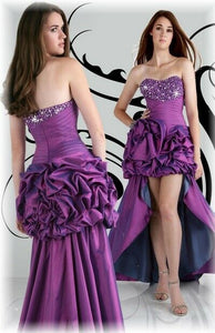 Xcite High Low Prom Dress 30253 Violet