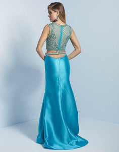 Splash Two Piece Prom Dress J736 Teal