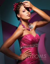 Load image into Gallery viewer, Tony Bowls Paris Taffeta Prom Dress 111707 Fuchsia