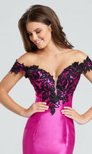 Load image into Gallery viewer, Ellie Wilde Grad Prom Dress EW117037 Hot Pink/Black