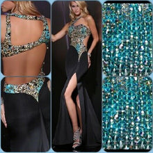 Load image into Gallery viewer, Xcite Leopard Prom Dress 32319 Black/Multi