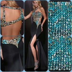 Xcite Leopard Prom Dress 32319 Black/Multi