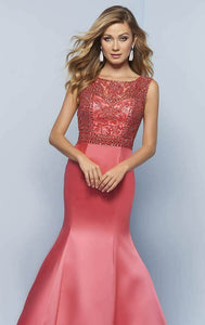 Splash Mermaid Grad Prom Dress J781 Coral