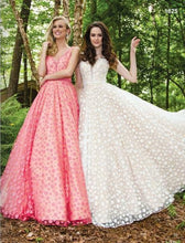 Load image into Gallery viewer, Colors Polka Dot Ballgown Prom Dress Coral/Nude 1825
