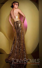 Load image into Gallery viewer, Tony Bowls One Shoulder Sequin Prom Dress Jade 111539