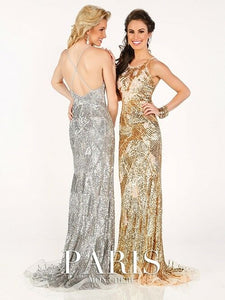 Tony Bowls Paris Sequin Prom Dress 116734 Gold