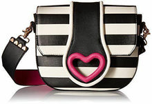Load image into Gallery viewer, Betsey Johnson Loop Di Loo Crossbody - Stripe/Fuchsia