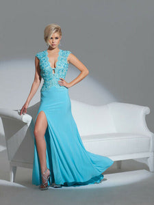Tony Bowls Le Gala Prom Dress 115554 Light Turquoise
