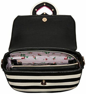Betsey Johnson Loop Di Loo Crossbody - Stripe/Fuchsia