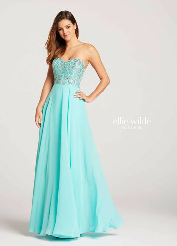 Ellie Wilde Chiffon Grad Prom Dress EW118094