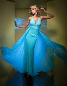 Tony Bowls Chiffon Prom Dress TB11560 Light Aqua