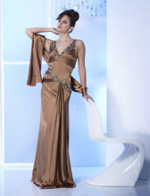 Load image into Gallery viewer, Paris Satin Prom Dress 18707 Coffee