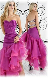 Xcite Ruffle Strapless Prom Dress 30161 Violet