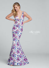 Load image into Gallery viewer, Ellie Wilde Grad Prom Dress EW117150 Ivory/Multi