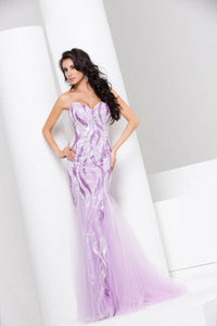 Tony Bowls Le Gala Sequin Prom Dress 115527 Lavender