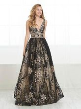 Load image into Gallery viewer, Tiffany Exclusive Gold Applique Ballgown 46200