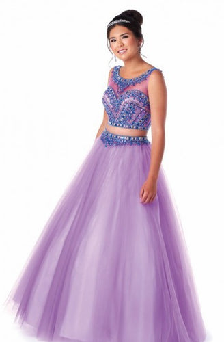 Bonny Bloom Two Piece Ballgown Quinceañera Lilac/Blue 5717