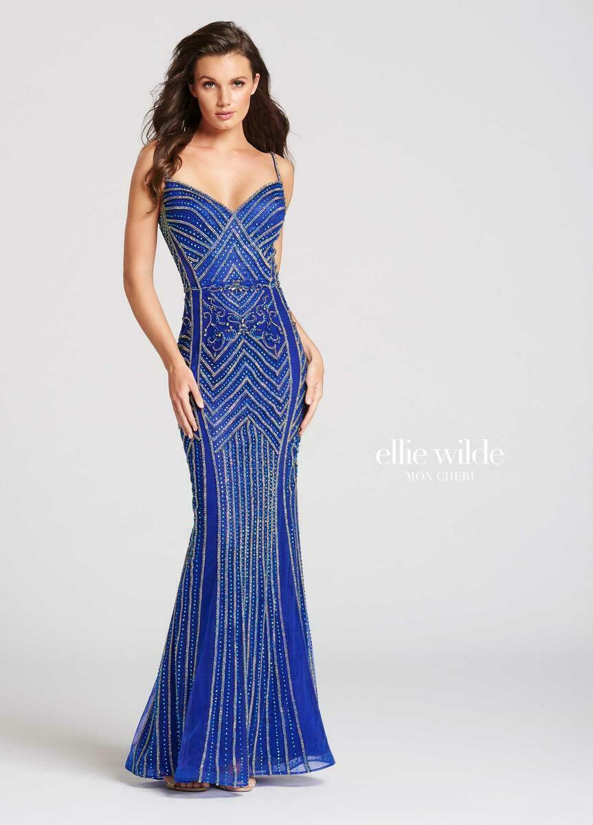 Ellie Wilde Grad Prom Dress EW118011 Royal