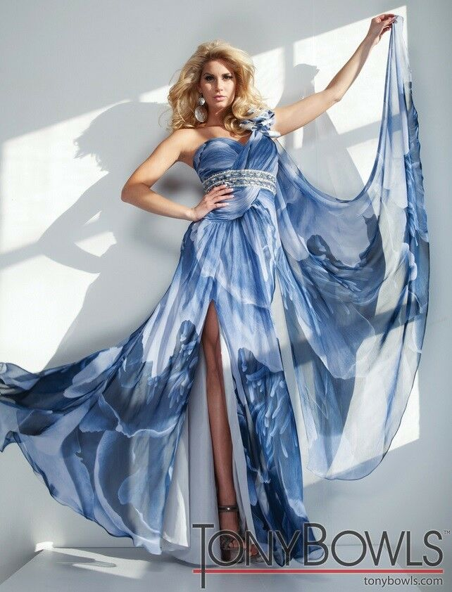 Tony Bowls Evenings Prom Dress TBE21129 Blue Multi