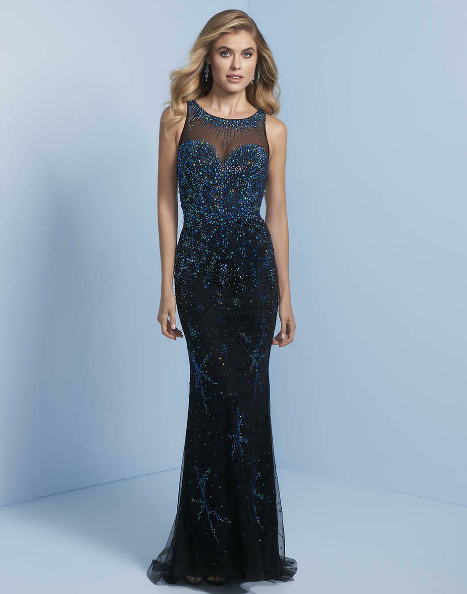 Splash Rhinestone Jersey Grad Prom Dress J756 Black