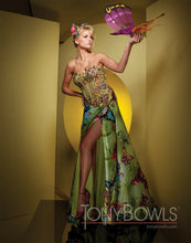 Load image into Gallery viewer, Tony Bowls Prom Dress Lime/Multi Butterfly Print 111508