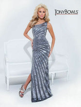 Load image into Gallery viewer, Tony Bowls Paris One Shoulder Prom Dress 114706 Pewter