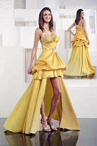 Xcite High Low Bubble Skirt Prom Dress 30005 Yellow