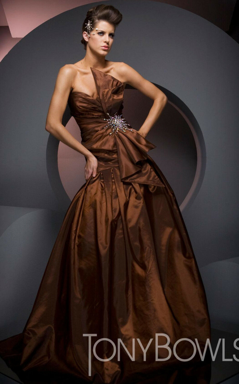 Tony Bowls Evenings Prom Dress TBE21020 Brown