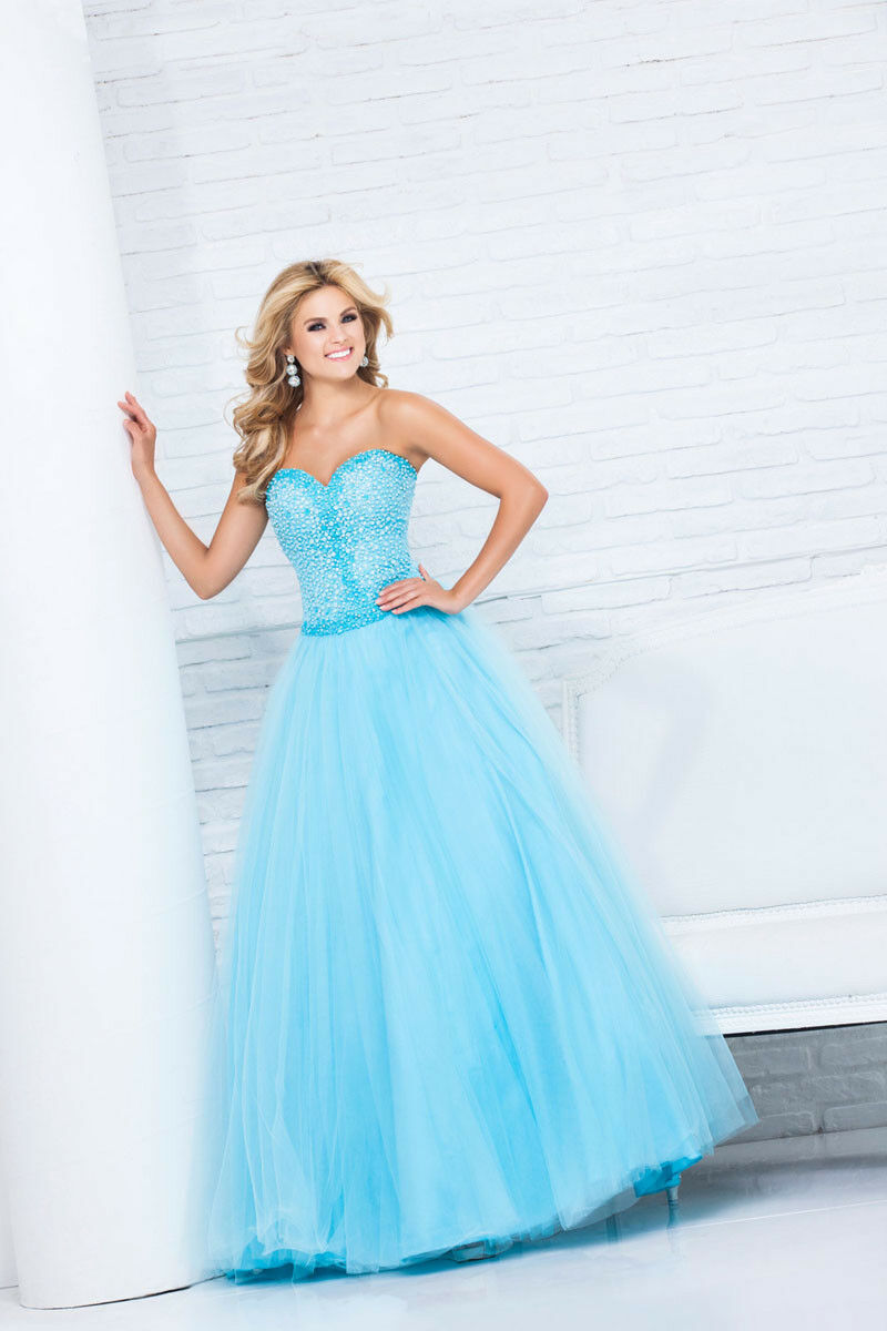 Tony Bowls Ballgown Prom Dress 115552 Aqua