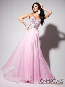 Tony Bowls Evenings Chiffon Prom Dress TBE11342 Pink