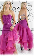 Load image into Gallery viewer, Xcite Ruffle Strapless Prom Dress 30161 Violet
