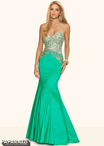 Morilee Mermaid Prom Dress 98047 Green