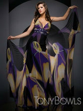 Load image into Gallery viewer, Tony Bowls Evenings Printed Chiffon Prom Dress TBE21003