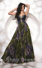 Load image into Gallery viewer, Tony Bowls Evenings Prom Dress TBE21123 Navy/Multi