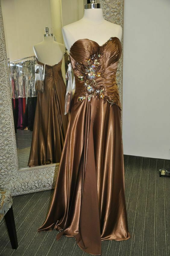 Tony Bowls Grad Prom Dress 111L50 Brown