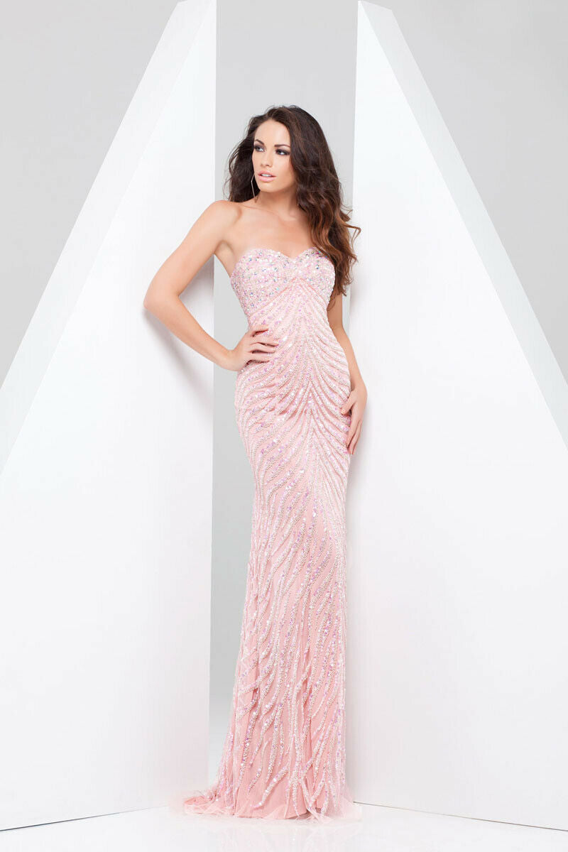 Tony Bowls Paris Beaded Prom Dress 115706 Blush