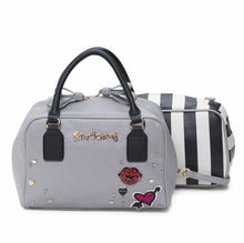 Load image into Gallery viewer, Betsey Johnson Peek A Boo Handbag - Grey