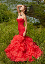 Load image into Gallery viewer, Morilee Mermaid Ruffle Prom Dress 99011 Red