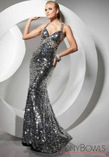 Load image into Gallery viewer, Tony Bowls Paris Sequin Halter Prom Dress 113739 Black