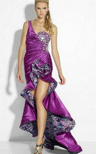 Load image into Gallery viewer, Riva Designs High Low One Shoulder Prom Dress R9635 Purple