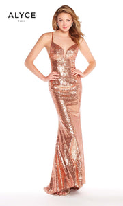 Alyce Paris Color Change Sequin Gown 60032 Chameleon