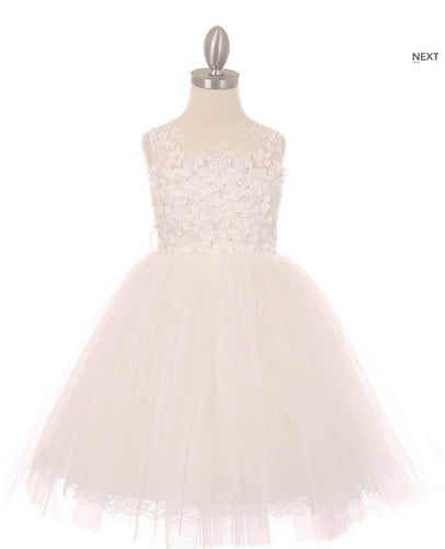 Lace Flowergirl Dress - Ivory