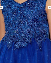 Load image into Gallery viewer, Glitter Tulle Flowergirl Dress - Royal Blue