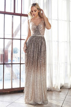Load image into Gallery viewer, Cappucino Ombre Sequin Gown 35449