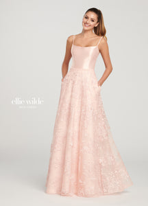 Ellie Wilde Lace A-Line Gown w/ Pockets EW119037