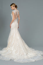 Load image into Gallery viewer, Lace Trumpet Bridal Wedding Gown 35426