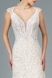 Lace Trumpet Bridal Wedding Gown 35426