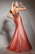 Load image into Gallery viewer, Tony Bowls Beaded Fit & Flare Gown 113551 Orange