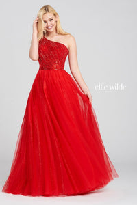 Ellie Wilde One Shoulder Ballgown EW120090